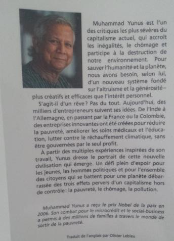 Vers une économie à trois zéros, Muhammad Yunus (2)