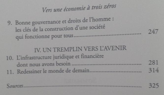 Vers une économie à trois zéros, Muhammad Yunus (4)
